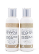 Luxury Shampoo and Conditioner SET (120ml) - Natural, Organic Dandruff, Moisturising, Volume, Psoriasis, Hair Loss, Detangler, Split Ends, Itchy Scalp, Sulphate Free, Paraben Free by Organic Prestige