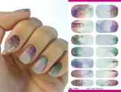 Full Wrap Nail Art Water Transfer Decal Sticker Colour Pattern K5663 Nail Sticker Tattoo - FashionDancing