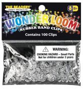 The Beadery 7307 100 C Clips,Crystal