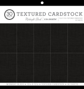 ColorBok 61241C Textured Cardstock Paper Pad,Midnight Black,30cm X 30cm