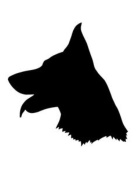 Pack of 3 German Shepherd Dog Stencils Made from 4 Ply Mat Board 11x14, 8x10, 5x7