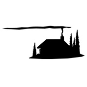 Pack of 3 Rustic Cabin Stencils Made from 4 Ply Mat Board 11x14, 8x10, 5x7