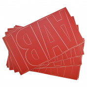 Westcott Letter Craft Permanent Vinyl Lettering, Franklin Gothic, 15cm , Red