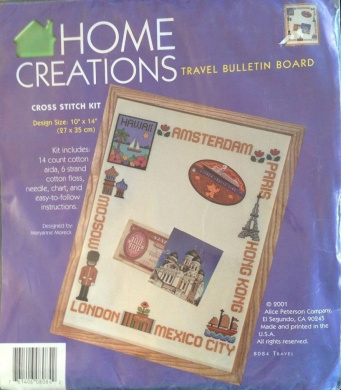 Travel Bulletin Board - Home Creations Cross Stitch Kit 8084