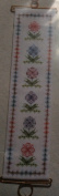 Floral Filigrees Cross Stitch Bell Pull by BJ Designs Kit #8209