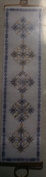 Blue Filigree Spheres Cross Stitch Bell Pull by BJ Designs Kit #8201