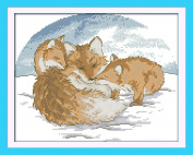 CaptainCrafts Hot New Releases Cross Stitch Kits Patterns Embroidery Kit - Snow Fox