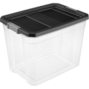 Sterilite 102.2l Stacker Box- Black