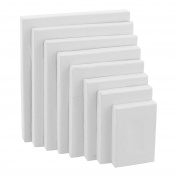 US Art Supply Professional Quality Stretched Canvas 350ml Primed Variety Pack Rectangular Pyramid Assortment