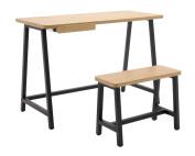 Calico Designs 51239 Homeroom Art Drawing Kids Desk & Bench Set, Ashwood/Graphite