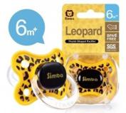 Simba Thumb Shaped Pacifier, Leopard Spots, 6+ Months