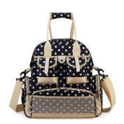 YuHan Baby Nappy Backpack Travel Mummy Bag Waterproof Nappy Shoulder Bag Handbag Blue