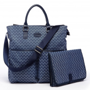 HC Blue Chevron Nappy Bag