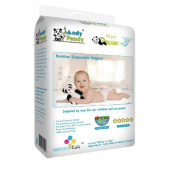 Andy Pandy Biodegradable Bamboo Disposable Nappies, Newborn, 50 Count of Pack, New for Baby