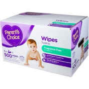 Parent's Choice Fragrance Free Baby Wipes, 500 sheets