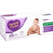 Parent's Choice 800 Sheets Enriched with Cucumber and Green Tea Refreshing Hypoallergenic and Alcohol Free Baby Wipes with Aloe Extract and Vitamin E