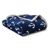 New Anchors Plush Blanket TWIN
