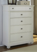 Harbour View 5 Drawer Chest in Linen Finish