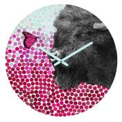DENY Designs Garima Dhawan New Friends 4 Round Clock, 30cm Round