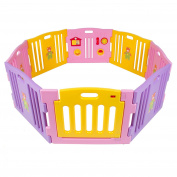 Baby Playpen Kids 8 Panel Safety Play Centre Yard Home Indoor Outdoor Pink Girls