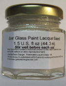 Silver Metallic Glass Paint Stain, Permanent Lacquer, Professional-grade