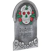 Loftus Dia De Los Muertos Graveyard 60cm Tall Tombstone, Grey Multi