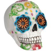Loftus Day of the Dead Sugar Skull 7.6cm Decoration Prop, White Multi