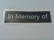 10 x 'In memory of' word stencils word stencils for etching on glass present hobby gift memorial