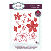 Craft Die CED3051 Sue Wilson Festive Collection - Poinsettia Additions