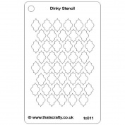 That's Crafty Dinky Stencil 7.6cm x 12cm -Quarterfoil 1 Background