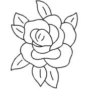 15cm x 20cm Rose Quilting Stencil by QCI - 404