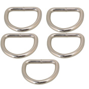 Belt Buckle,Ideaker Silvery Metal D Ring D Shaped for Bags Purses Backpack Straps Pack of 20 2.5cm