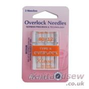 Hemline H107.K | Med Type K Overlocker Machine Needles | 3x 80/12 | Sergers