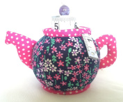 Dritz Collectible Tea Pot Shaped Pin Cushion with Measuring Tape