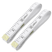 VNDEFUL 2pcs 150cm Soft Tape Measure for Sewing Tailor Cloth Ruler, White