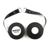 Set of 2 Wintape Black Colour Profi Fibreglass Retractable Dress Makers Tape Measure 254 cm 100-inch