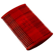Parker's Indian Rosewood Two Sided Beard & Moustache Comb with Jute Pouch