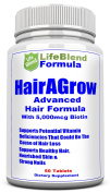 Advanced Hair Growth Formula For Longer, Stronger, Healthier Hair - Scientifically Formulated with Biotin, Keratin, Bamboo for Silky & Soft Hair, Glowing Skin and Strong Nails