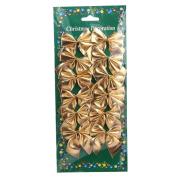 Tinksky 12pcs Sweet Ribbon Bows Bowknot Christmas Tree Hanging Decorations Xmax Tree Ornaments