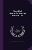 Simplified Instructions on the Babcock Test