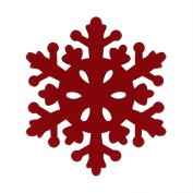 4Pcs Snowflake Shaped Coaster,Morecome Anti-Skid Table Placemat Xmas Holiday Decor