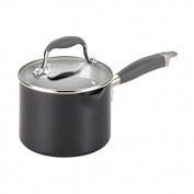 Anolon Advanced Hard-anodized Nonstick Grey 1.9l Covered Straining Saucepan with Pour Spouts