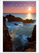 Mendocino, California - Rocky Cove and Sunset