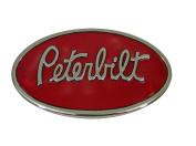 Peterbilt Motors Chrome Finish Oval Belt Buckle