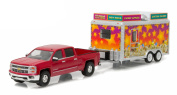 2015 Chevrolet Silverado & State Fair Concession Trailer Hitch & Tow Series 7 1/64 by Greenlight 32070 A