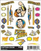 Pinecar Stick-On Decals, Captain Zoom PIN465 by Pinecar