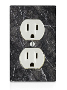 Black Marble Design Electrical Outlet Plate