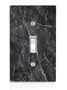 Black Marble Design Light Switch Plate