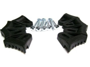 Eight (8) Black Plastic Speaker Grill Clamp with Waffle Screws