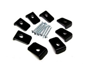 Eight (8) Black Metal Speaker Grill Clamp with Waffle Screws